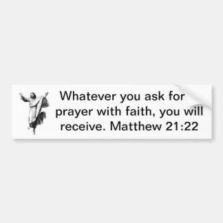 Gebete im Glauben (mit Bild) Autoaufkleber