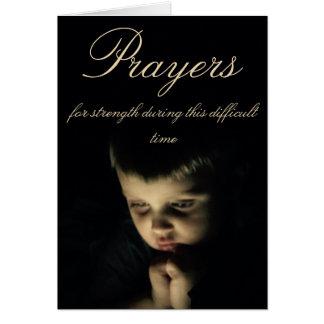 Gebete während der schwierigen Zeiten Grußkarte