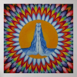 Gebets-Gebirgsplakat Poster