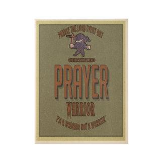 Gebets-Krieger-kundenspezifisches christliches Holzposter