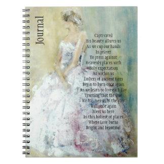 Gebets-Zeitschrift mit Braut Notizblock