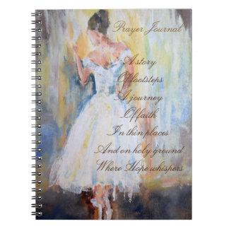 Gebets-Zeitschrift mit Tänzer Notizblock