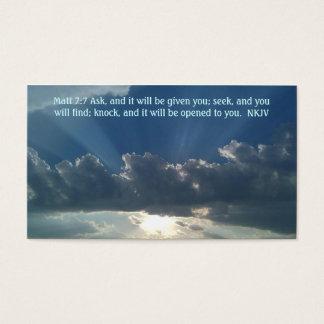 Gebetskarte Matt-7:7 Visitenkarte