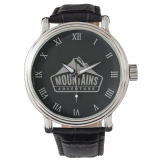 Gebirgsabenteuer-Bergsteigen-Bergsteiger-Wanderer Armbanduhr