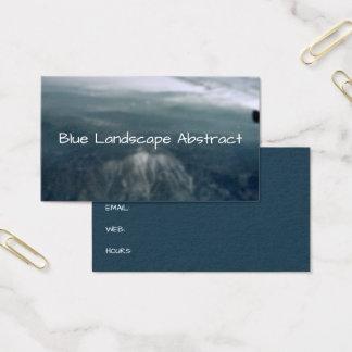 Gebirgsabstrakter blauer Landschaftshintergrund Visitenkarte