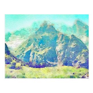 GebirgslandschaftsAquarell Postkarte