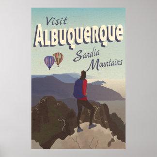 GebirgsRetro Reise-Plakat Albuquerques Sandia Poster