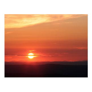 Gebirgssonnenuntergang im Shenandoah Postkarte