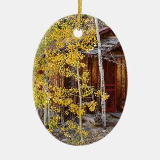 Gebirgsunterschlupf Ovales Keramik Ornament