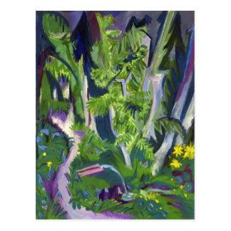 Gebirgswald Ernst Ludwig Kirchner- Postkarte