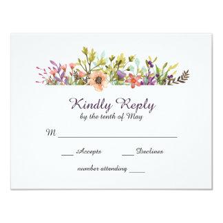 GebirgsWildblumenwatercolor-Hochzeit UAWG Karte
