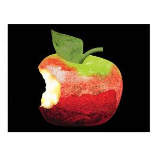 Gebissenes Apple Postkarte