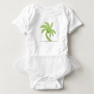 Gebogene Palme-Monolinie Baby Strampler