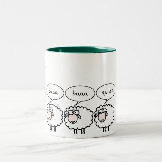 Gebohrte Schafe Zweifarbige Tasse