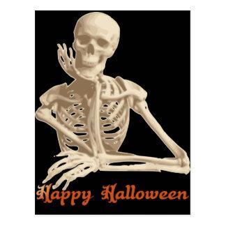 Gebohrtes Skelett Postkarte
