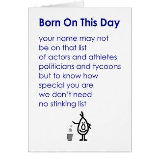 Geboren an diesem Tag - ein lustiges Karte