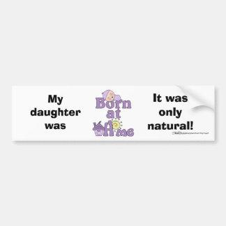 Geboren an Zuhause-Schlafendem Baby-Mädchen Autoaufkleber
