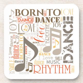 Geboren, Brown ID277 zu tanzen Untersetzer