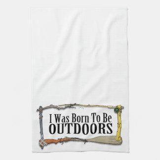 Geboren, draußen zu sein Küchen-Tuch Küchenhandtücher