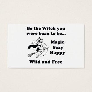 Geboren, eine Hexe zu sein Visitenkarte