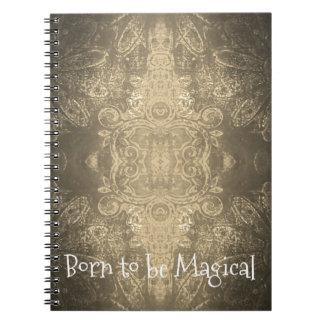 Geboren, magisches Notizbuch (80 Seiten B&W) zu Notizblock