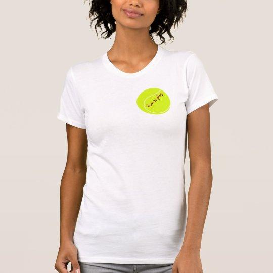 Geboren, mit Tennisball zu spielen T-Shirt