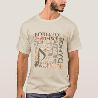 Geboren, Orange/Brown ID277 zu tanzen T-Shirt
