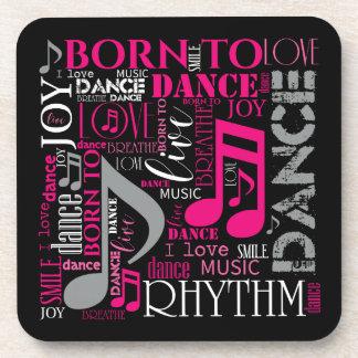 Geboren, rosa ID277 zu tanzen Untersetzer