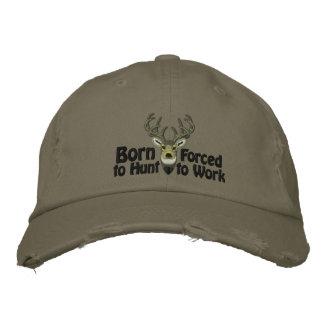 Geboren, weiße Schwanz-Stickerei zu jagen Bestickte Kappe