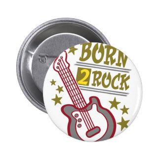 Geborene Felsen Gitarre, Gitarristentwurf Runder Button 5,7 Cm