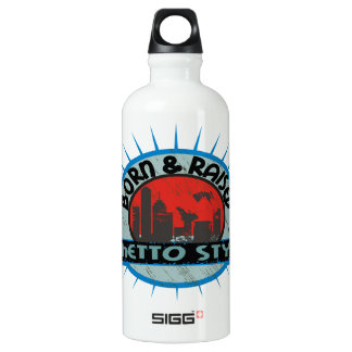 Geborene u. angehobene Getto-Art Aluminiumwasserflasche
