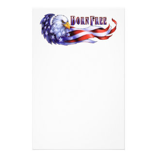 Geborener freier kahler Adler und USA-Flagge Briefpapier
