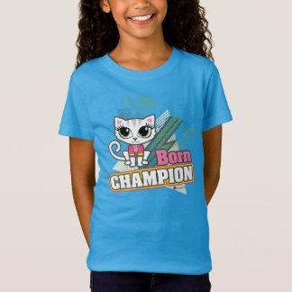 Geborener Meister-motivierend Katzen-T-Stück durch T-Shirt