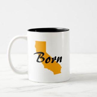 Geborenes Kalifornien, Texas hob an Zweifarbige Tasse