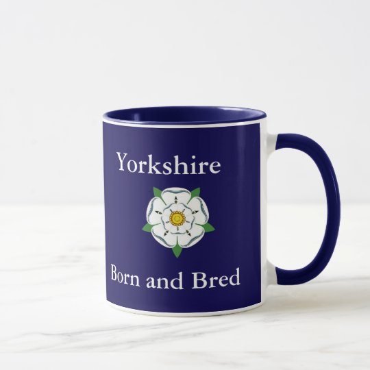 Geborenes Sheffield u. züchtete Tasse