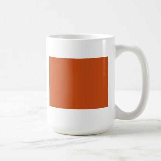 Gebrannte Orange Kaffeetasse