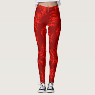Gebranntes orange abstraktes leggings
