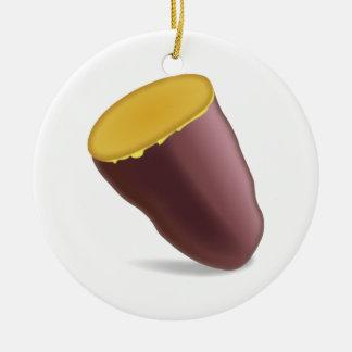 Gebratene Süßkartoffel - Emoji Keramik Ornament
