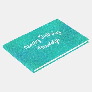Gebrochener kundenspezifischer Glasgeburtstag Gästebuch