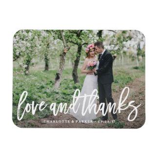 Gebürstete Hochzeit danken Ihnen Foto-Magnet Rechteckiger Fotomagnet