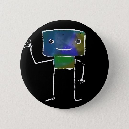 Gebürstete Roboter - Vol. 1: Lunabot Runder Button 5,7 Cm