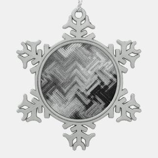 Gebürstete Stahlzinn-Schneeflocke-Verzierung Schneeflocken Zinn-Ornament