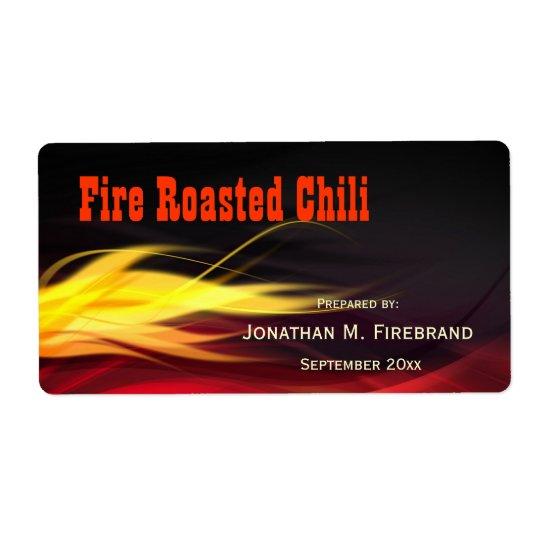 Gebürsteter Flammen-Chili oder Geschäfts-Aufkleber Versandetiketten