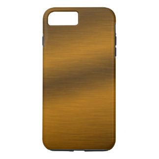 Gebürsteter Imitat-Bronzehintergrund iPhone 7 Plus Hülle