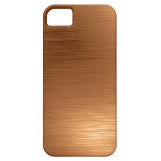 Gebürsteter kupferner Blick Barely There iPhone 5 Hülle