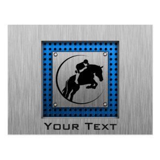 Gebürsteter Metall-Blick; Blauer Reiter Postkarte
