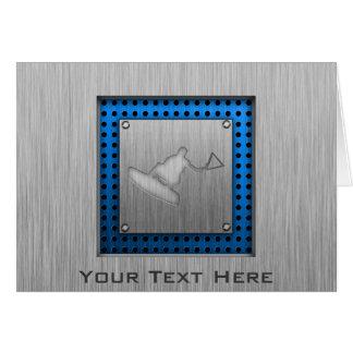 Gebürsteter Metall-Blick Wakeboarder Karte