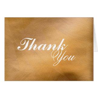 Gebürstetes Kupfer dankt Ihnen Karte