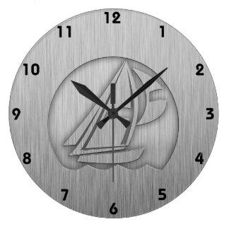 Gebürstetes Metall-Blick Segeln Uhr