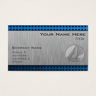 Gebürstetes Metall-Blick Segeln Visitenkarte